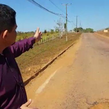 PERIGO – Deputado Jesuíno constata precariedades na Estrada da Penal e cobra melhorias