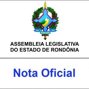 Nota Oficial da Assembleia Legislativa sobre o auxilio alimentação dos deputados estaduais