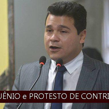Vereador Marcelo Cruz entra na justiça para anular sessões que aprovaram fim do quinquênio e protesto contribuintes municipal