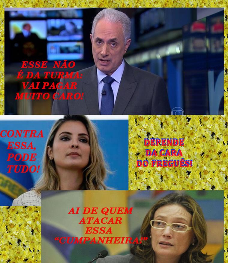 Ofender e fazer piada com Marcela Temer Pode, mas nunca com uma mulher esquerdista!