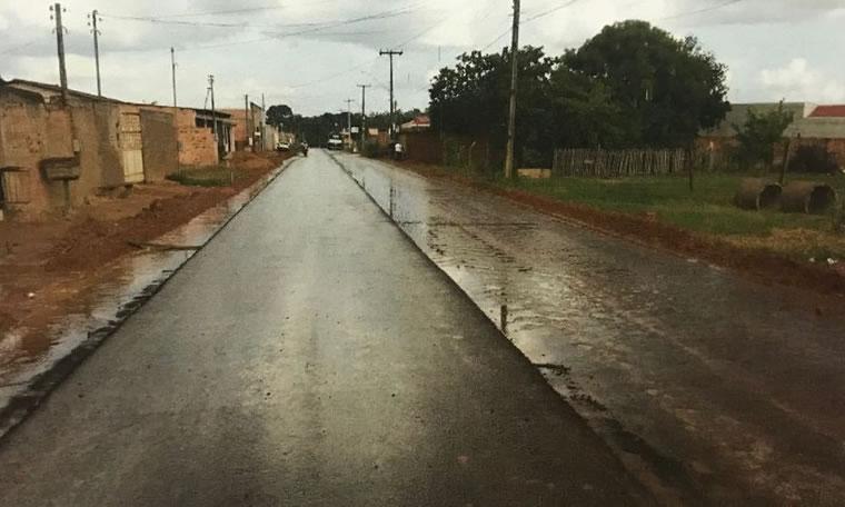 Ruas são asfaltadas no Bairro Aeroclube após pedido do deputado Jesuíno Boabaid