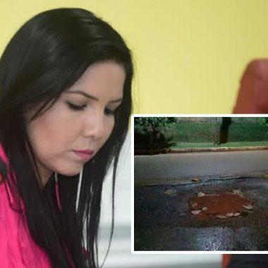 CHAPÉU ALHEIO – Vereadora é acusada de se promover em buraco tapado por morador do Bairro Novo