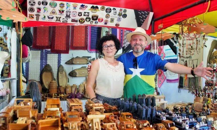 ECONOMIA SOLIDÁRIA: Aleks Palitot prestigia abertura da Semana do Artesão