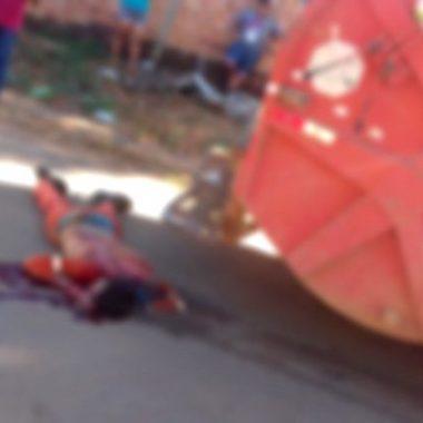 FATAL – Gari morre atropelado por caminhão de lixo