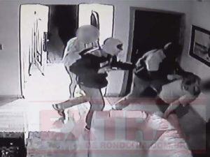 Bandidos invadem casa de militar aposentado, fazem família refém e fogem levando caminhonete