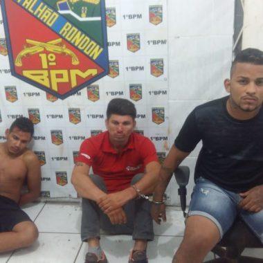 VIOLÊNCIA – Trio é preso após praticar assaltos em sorveteria