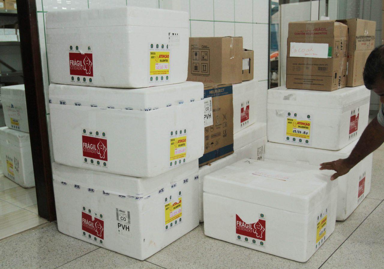 Mais 23 mil doses de vacina contra sarampo são distribuídas; quantidade suficiente para o mês de agosto