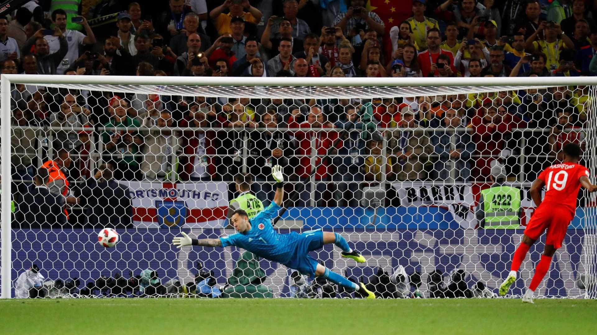 Pela primeira vez, Inglaterra vence disputa de pênaltis em uma Copa