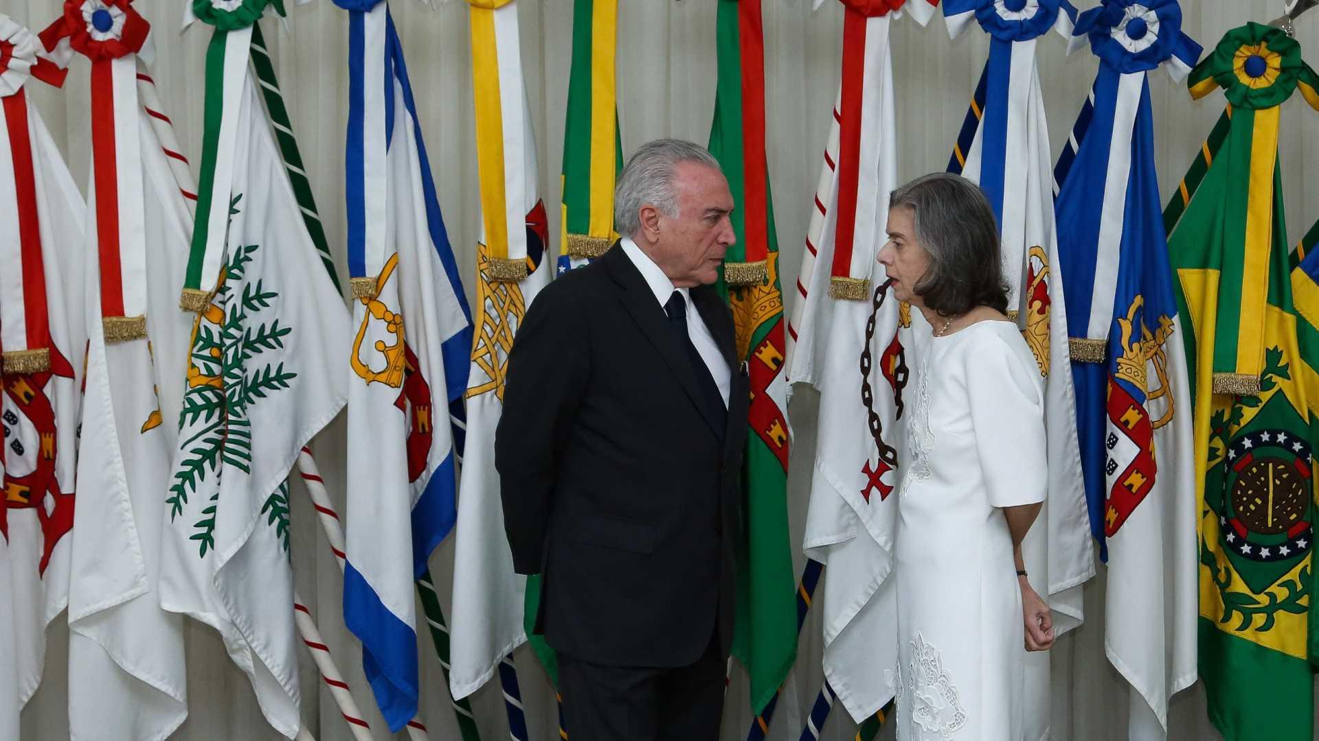 Temer viaja e Cármen Lúcia assume Presidência da República nesta terça