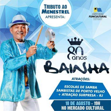 MESTRE BAINHA – Projeto homenageia personalidades da cultura de Porto Velho