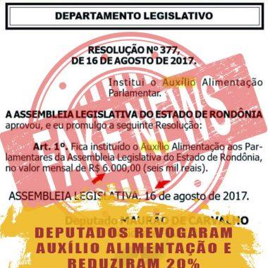 FAKE NEWS – Assembleia Legislativa de Rondônia é alvo de ataque nas redes sociais