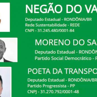 ELEIÇÕES – Com nomes curiosos, candidatos disputam vaga na ALE/RO
