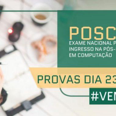 POSCOMP – Exame Nacional de ingresso a pós-graduação em computação acontece na capital