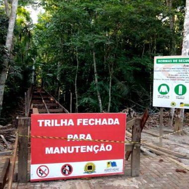 Parque Natural de Porto Velho é fechado para reforma