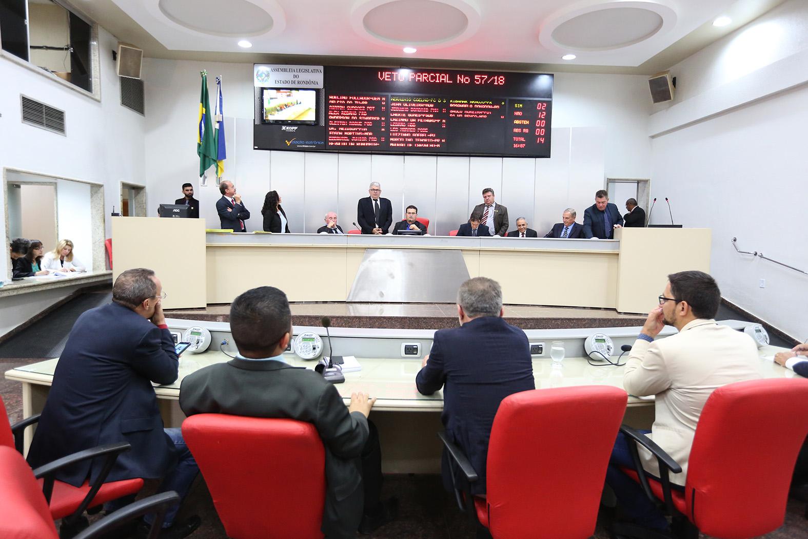Assembleia analisa e vota vetos do Executivo em sessão ordinária