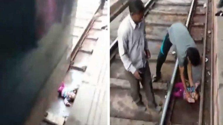 Trem passa por cima de bebê e ele sai ileso; vídeo