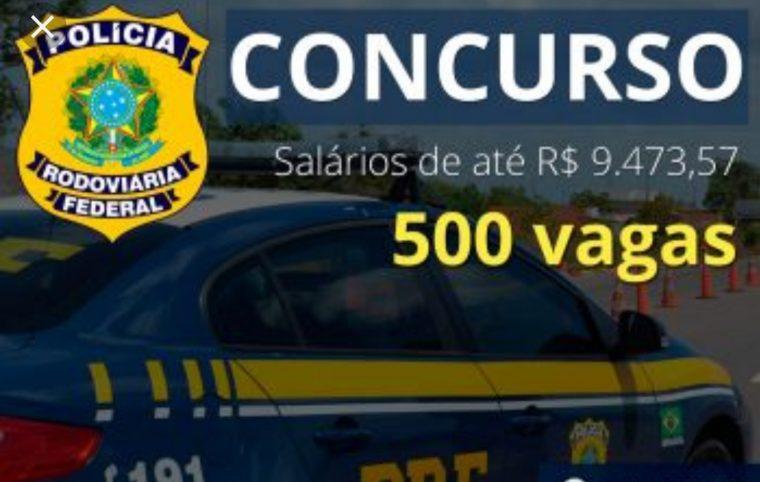 500 VAGAS – Inscrições abertas para concurso da Polícia Rodoviária Federal