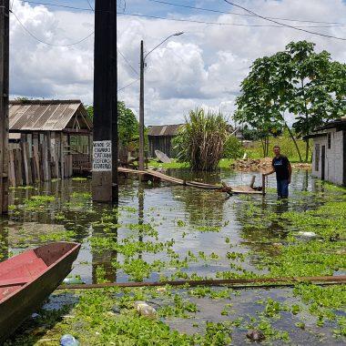 CHEIA – Mais de 700 pessoas estão desalojadas em Porto Velho com avanço das águas do rio Madeira