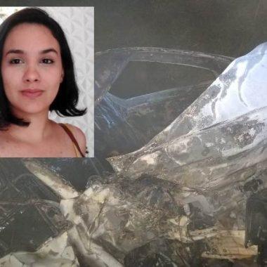 Professora da Uniron, mãe e filho morrem carbonizados em acidente na BR 364