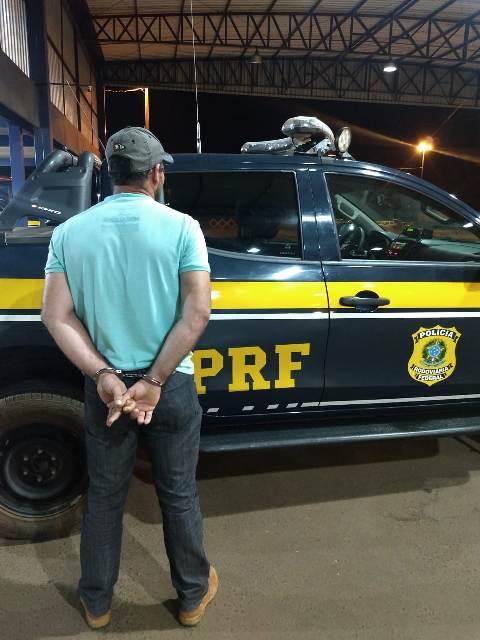 Polícia Rodoviária Federal prende foragido por estupro de vulnerável