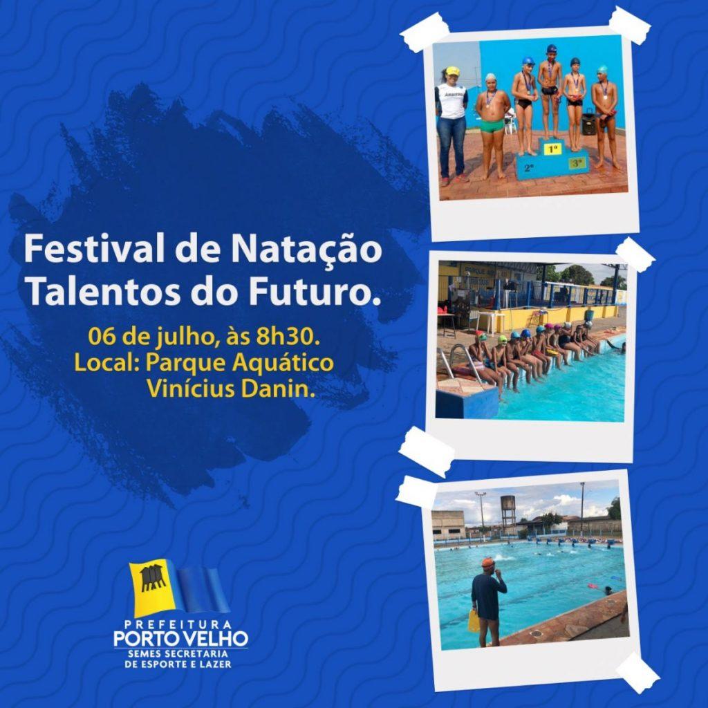 TALENTOS DO FUTURO – Festival de natação acontece neste sábado (6)