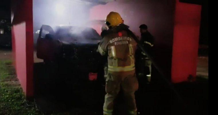 NOVOS ATAQUES – Criminosos invadem quartel do Corpo de Bombeiros na capital e incendeiam viatura