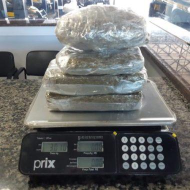 PRF apreende mais de três quilos de drogas em Vilhena