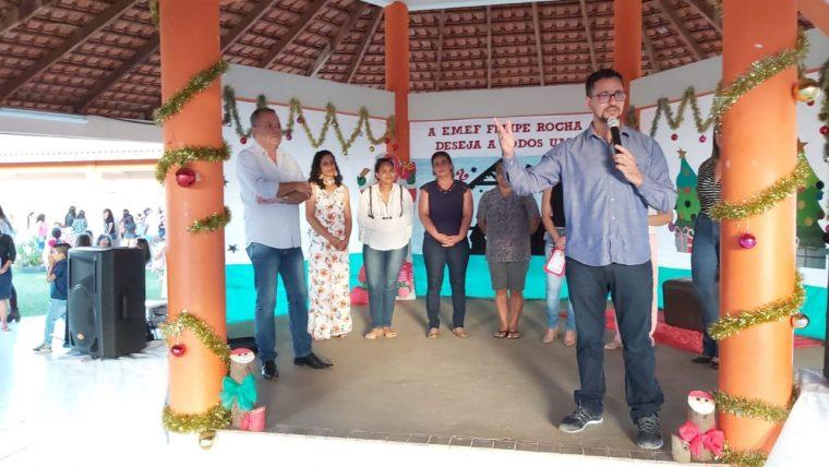 EDUCAÇÃO – Deputado Anderson entrega play ground em escola infantil de Vilhena