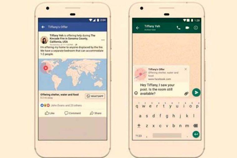 Alerta de desastres naturais do Facebook está chegando ao WhatsApp