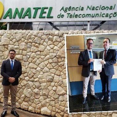 Deputado Anderson tem reunião na Anatel em Brasília sobre expansão de telefonia móvel para distritos de Rondônia