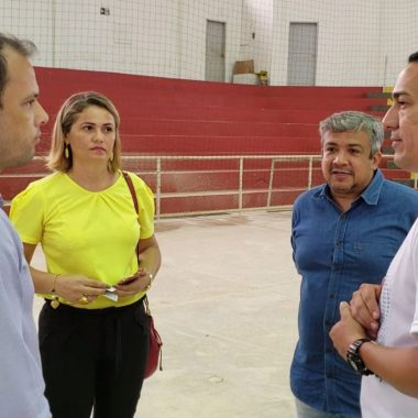 Deputado Eyder Brasil fiscaliza emenda destinada para o Ginásio Ronaldo Aragão