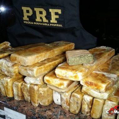 PRF prende jovem transportando mais de 27 quilos de Maconha de Cacoal para Ariquemes
