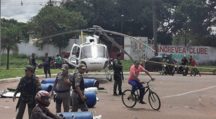 Helicóptero do governo se envolve em acidente e destrói caminhão – VÍDEO
