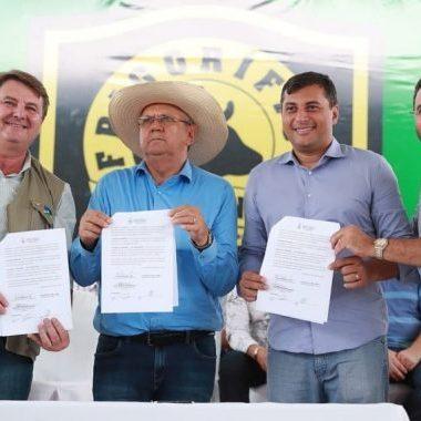 Governo assina Protocolo de Intenções para integrar ações de fortalecimento entre os estados do Amazonas e Acre
