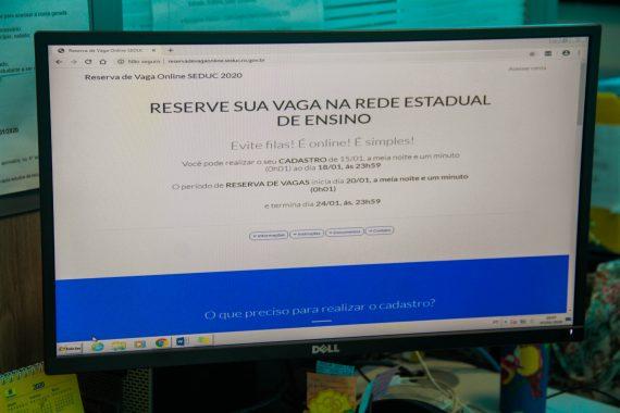 Secretaria Estadual de Educação informa datas para a reserva online de vagas em escolas estaduais
