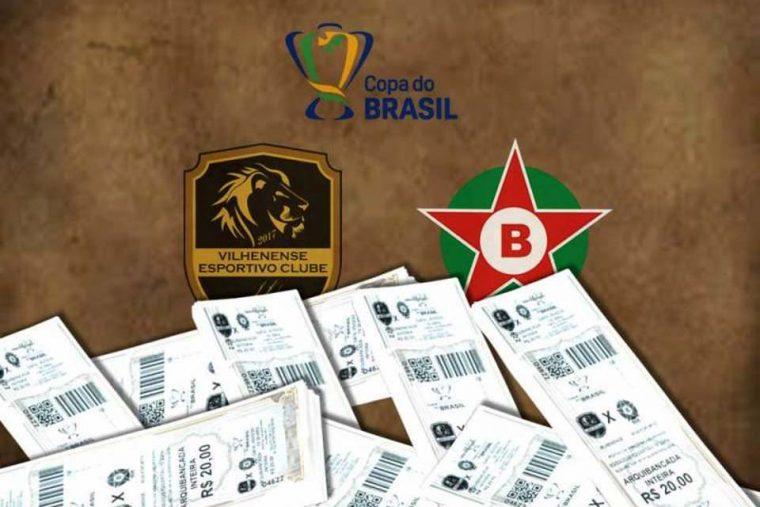 COPA DO BRASIL – Vilhenense inicia venda de ingressos para partida diante do Boa-MG