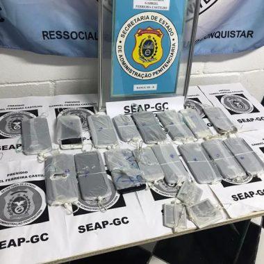Operação apreende 24 celulares em unidade prisional do Rio