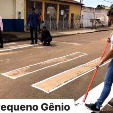 EXEMPLO- Iniciativa de vereadora Ada Dantas faz com que prefeitura execute faixas de pedestres em Porto Velho-RO