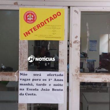 INTERDITADA – Ano letivo na Escola João Bento da Costa é adiado por falta de adequações na segurança