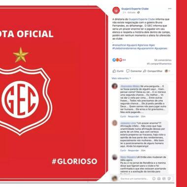 Guajará Esporte Clube desmente seu Presidente e diz que não existe negociação com o goleiro Bruno