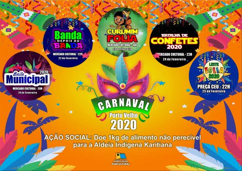 CARNAVAL 2020 – Baile Municipal acontece nesta sexta-feira