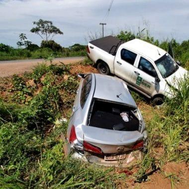 Acidente no Anel Viário deixa cinco pessoas feridas em Ji-Paraná