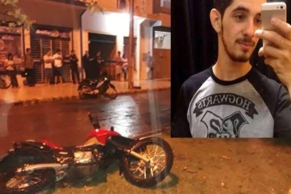 Sobrinho de ex-prefeito morre em acidente que teria sido provocado por obra não sinalizada do Saae