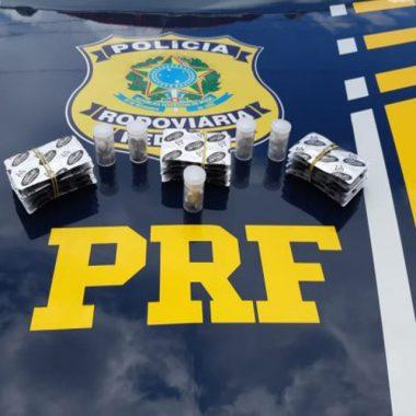 PRF detém motorista com 300 comprimidos de anfetamina