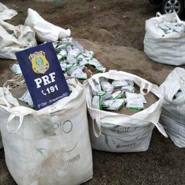 PRF apreende carga de agrotóxico contrabandeados do Paraguai