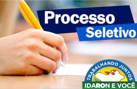 Idaron abre processo seletivo simplificado para contratação temporária de 30 técnicos agrícolas e em agropecuária