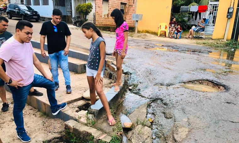 Vereador Isaque Machado continua o trabalho de fiscalização nos bairros de Porto Velho