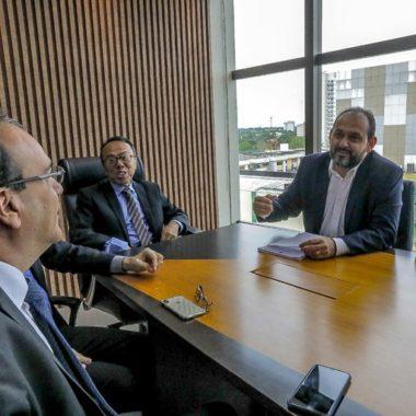 Presidente Laerte Gomes se reúne com nova cúpula administrativa do Tribunal de Justiça