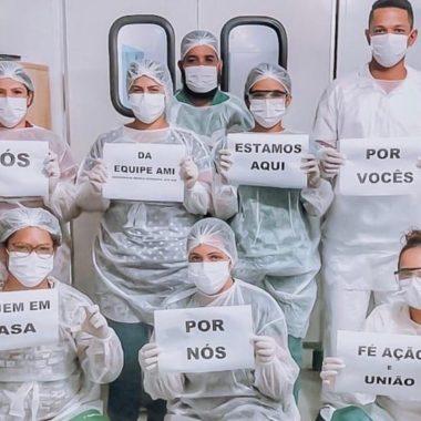 Profissionais de saúde de RO fazem apelo na web para combater coronavírus: 'Fique em casa por nós'