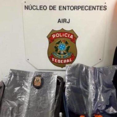 Rondoniense é preso no Rio, tentando embarcar com 5,5 kg de cocaína para a Inglaterra